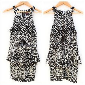 2B BeBe Peplum Dress With Cutouts